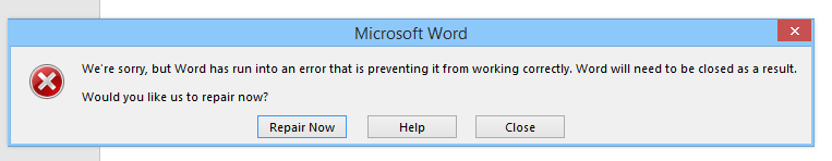 we re sorry but word has run into an error