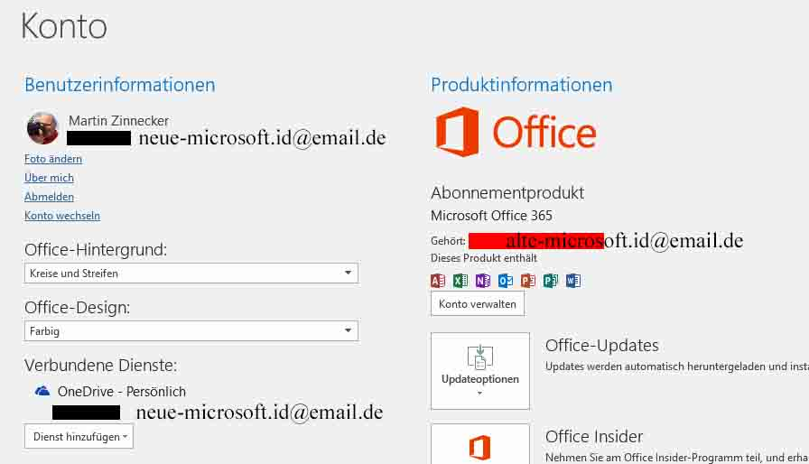 microsoft mail adresse ändern