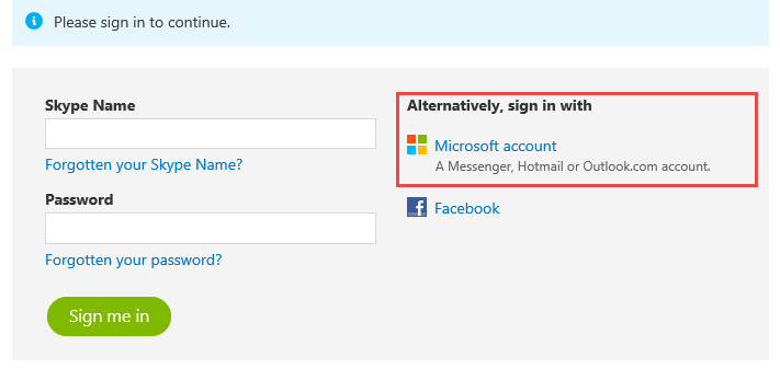 microsoft account username and password