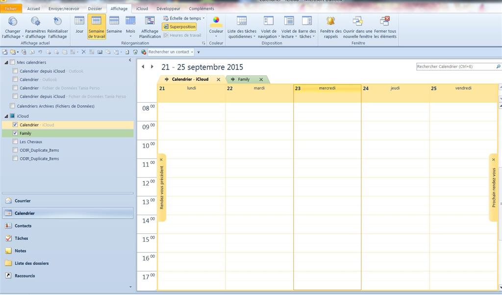 Affichage Calendrier Outlook.Rv Masques Dans Calendrier Outlook Microsoft Community