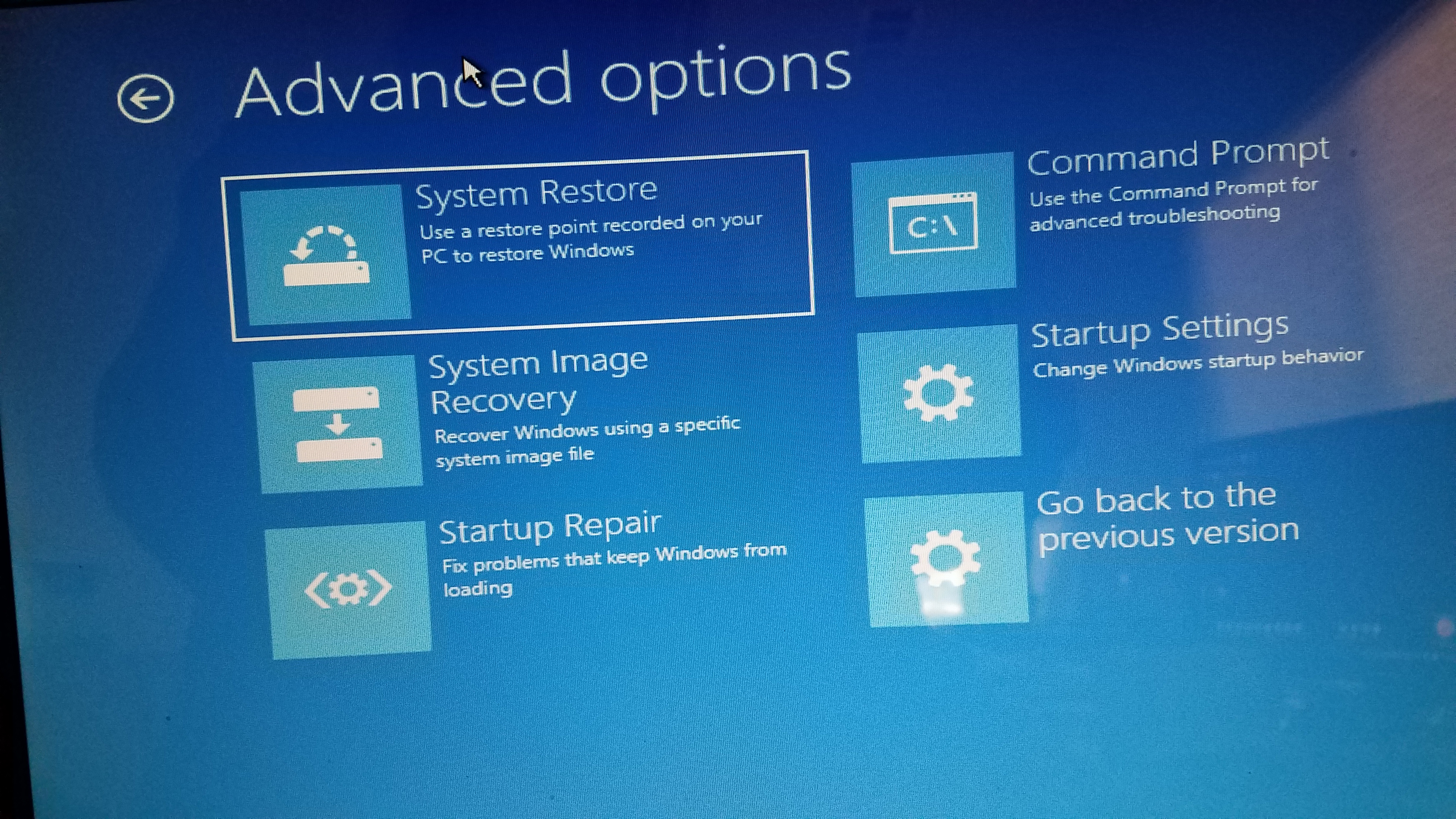 does the computer need to be online to revert to the previous version of windows we do not want it to revert and then try to install the latest version