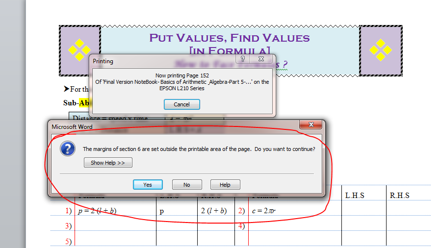 image relating to Printable Margins referred to as Dont Present Information - Print out of Margin - Microsoft Nearby