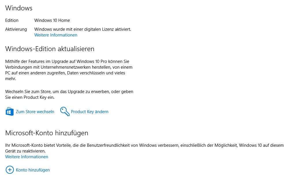 windows 10 upgrade auf pro