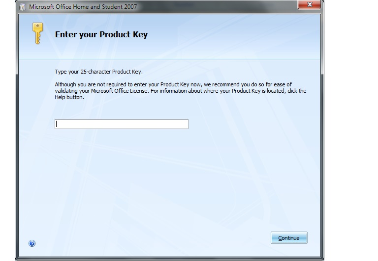 microsoft office 25 character product key 2007
