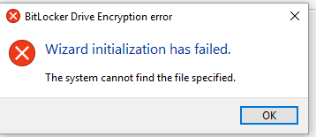 BitLocker won't enable on Windows 10 after update on Aug 9