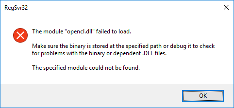 OpenCL dll is missing - Microsoft Community