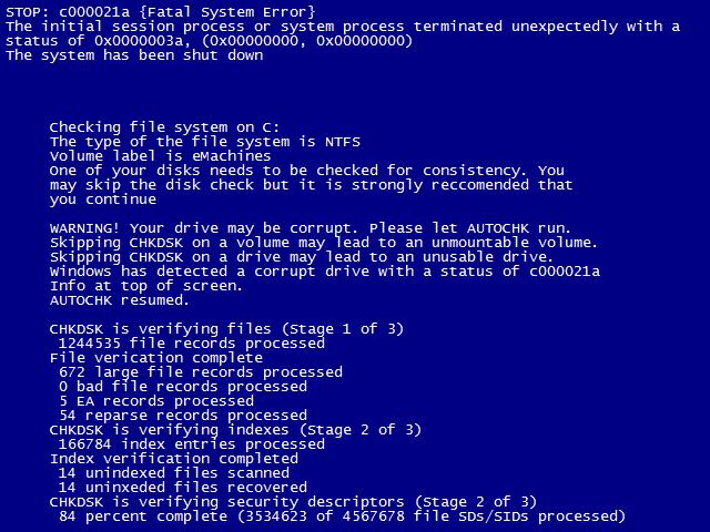 CHKDSK - Microsoft Community