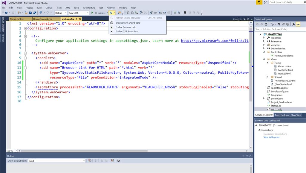 Browser Link On Vs Enterprise Training Certification And Program