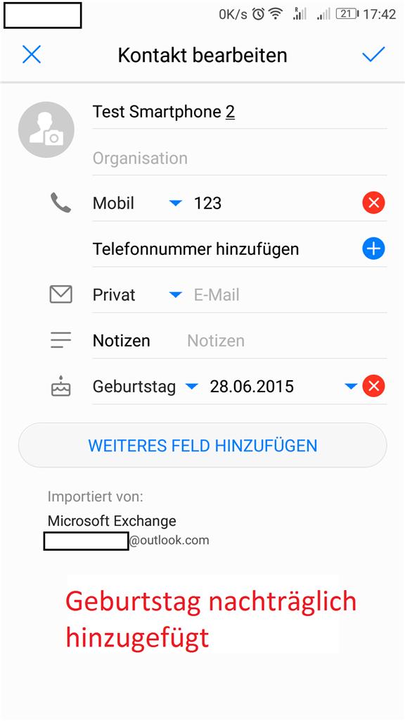Outlook com geburtstag