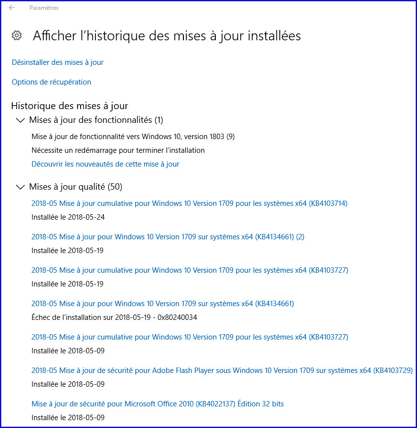 Impossible D Installer La Version 1803 De Windows 10 Microsoft