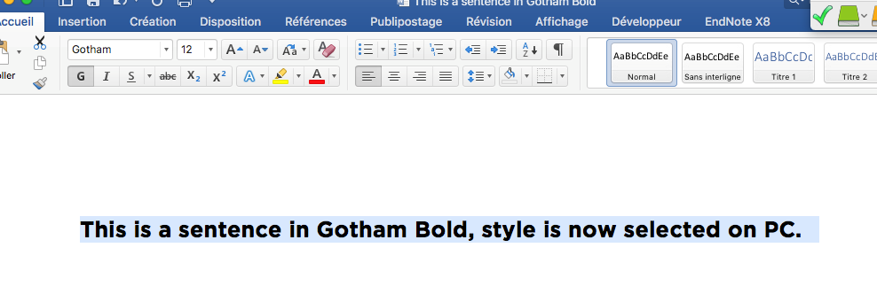 Compatibility issue with a font (Gotham) - Microsoft Community