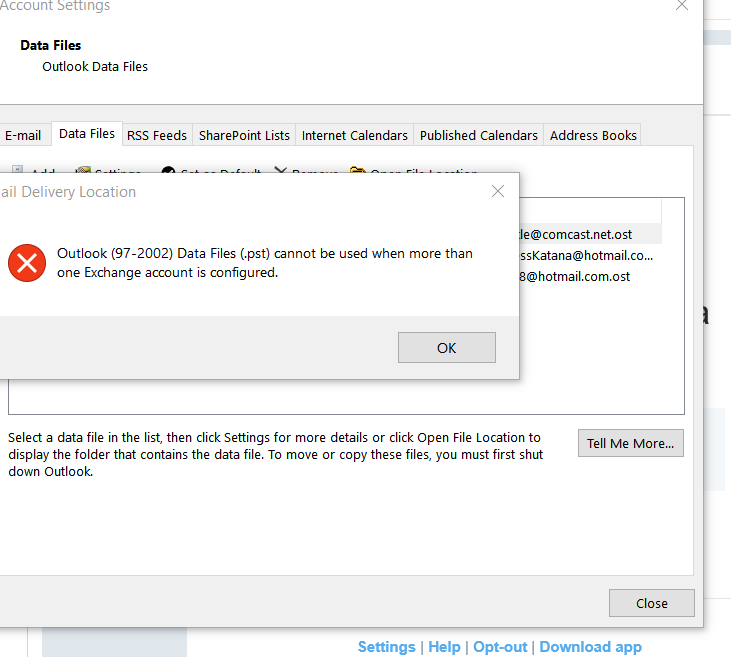 Setting Up Hotmail In Outlook 2016 Can T Set Proper Acct To Microsoft Community