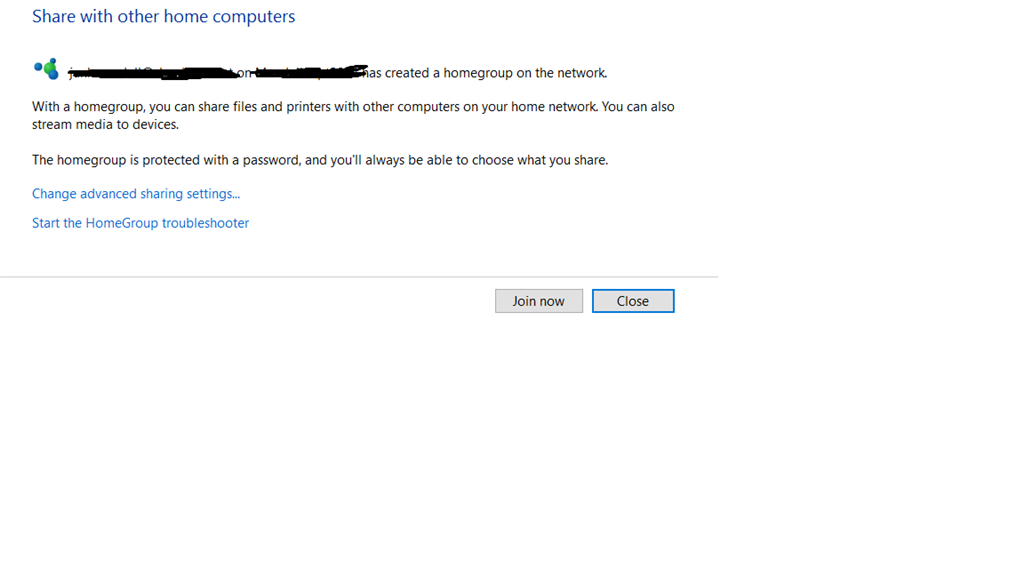 lost password for homegroup windows 10