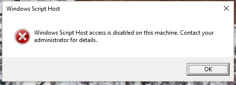 Windows script host access is disabled microsoft community windows script host access is disabled ccuart Choice Image
