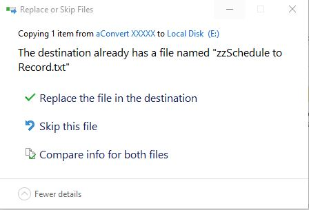 Merge folders by only keeping newer files when there is a