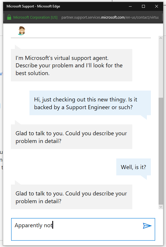 Microsoft Virtual Agent is on this page - Microsoft Community