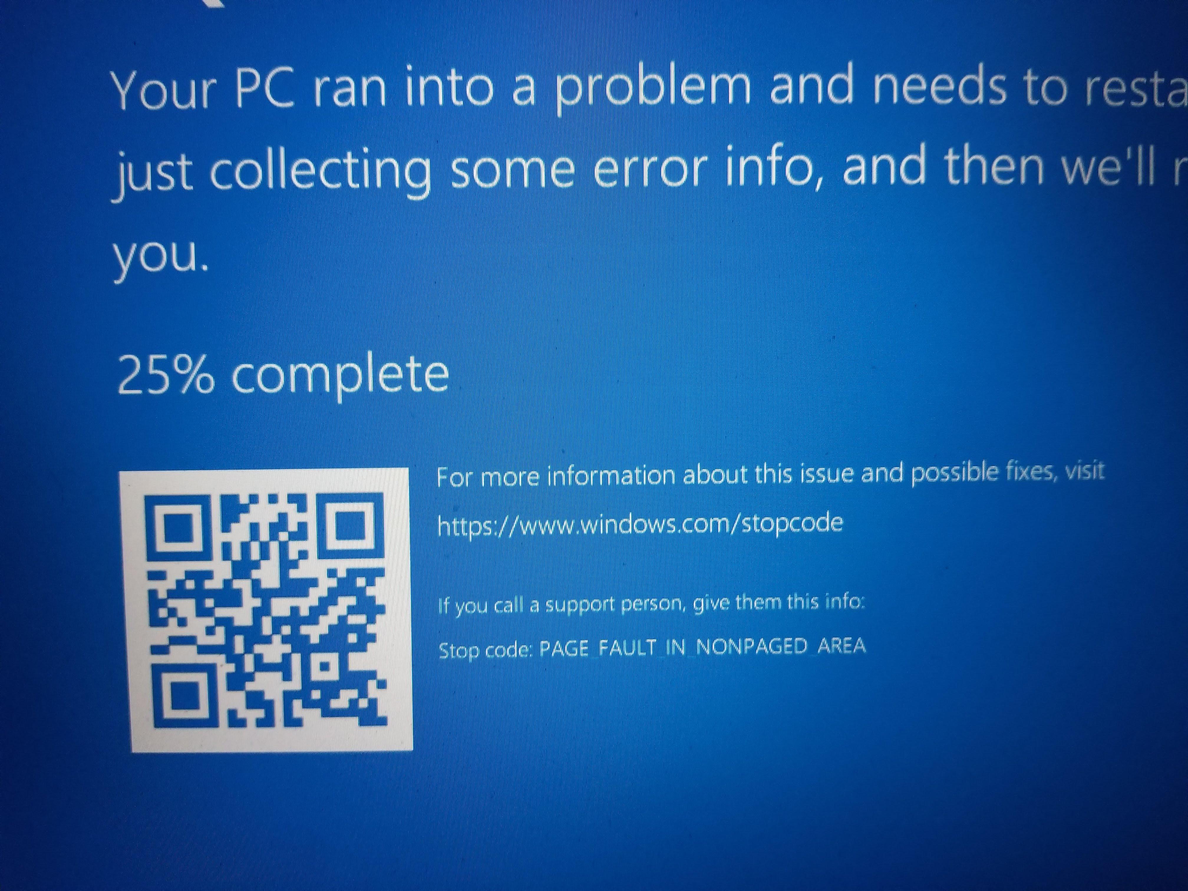 blue screen of death windows 10 no error codes
