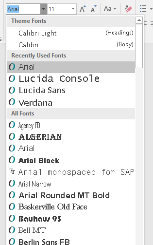 What alternative / replacement font to Arial Unicode MS in Office