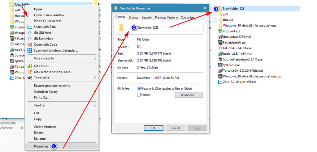 I can't rename some files or folders when create in HDD using