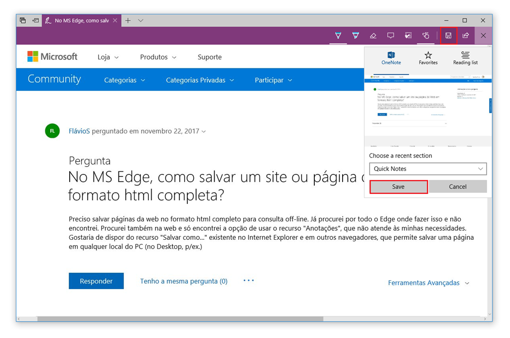 Salvar página da Web no Microsoft Edge - Microsoft Community 99b6c2807f893