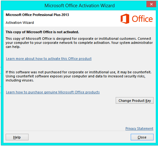 Out Of Sudden My Powerpoint Product Activation Failed Microsoft Community