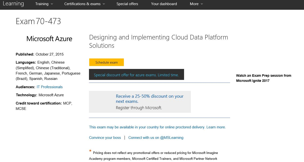 40441 Designing And Implementing Cloud Data Platform Solutions