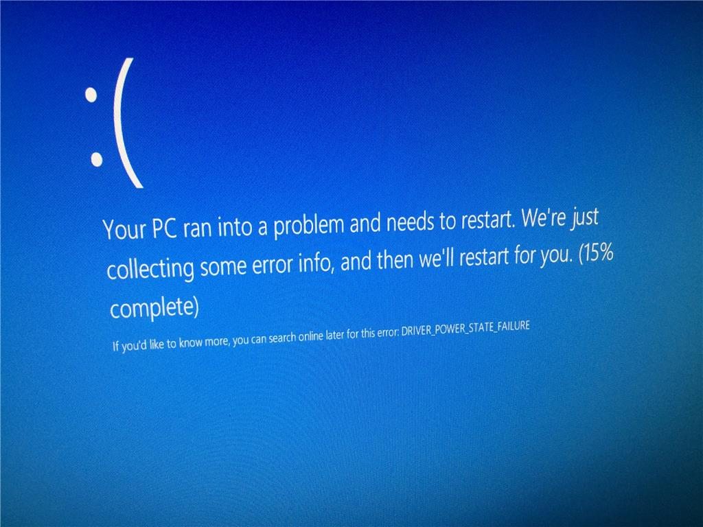 Fix driver power state failure in windows 10 troubleshooter.
