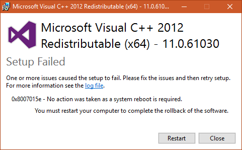 all visual c++ redistributable packages