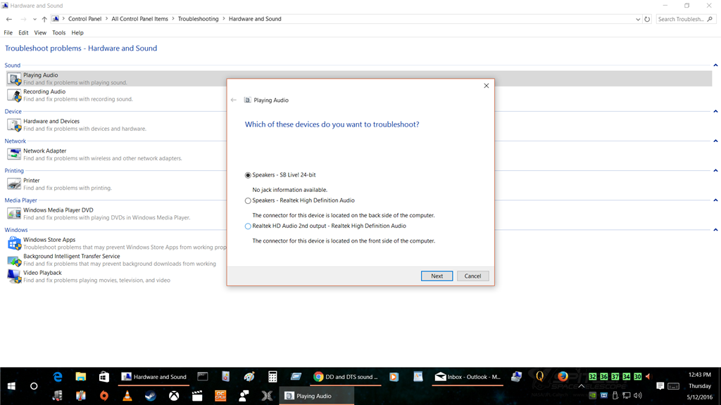 DD and DTS sound features not present on Windows 10 - Microsoft