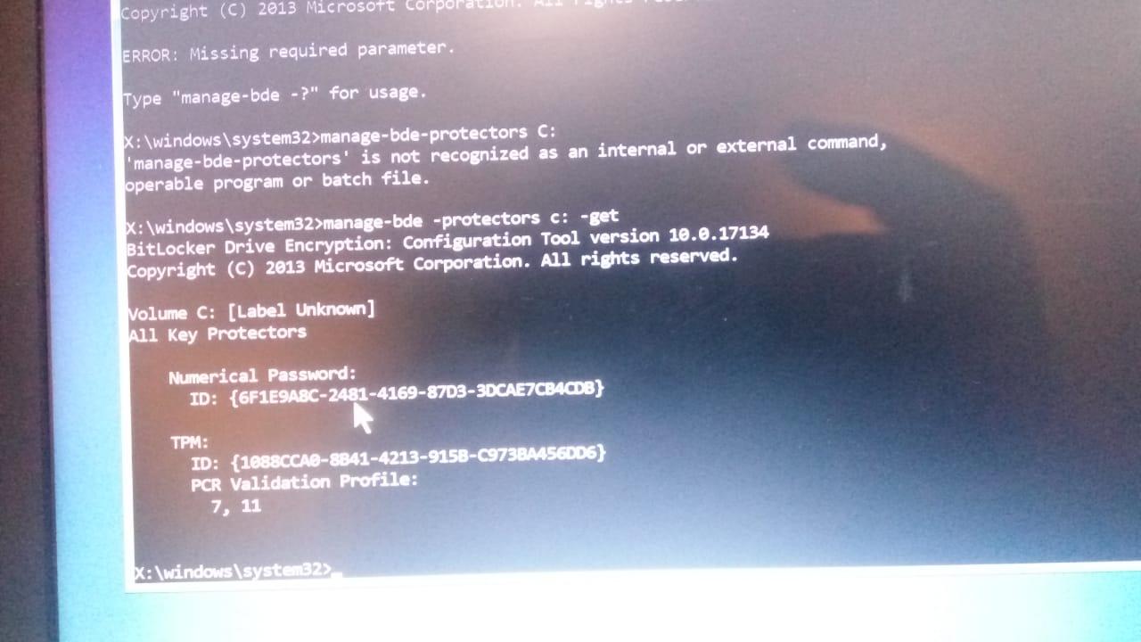 recovery key microsoft id