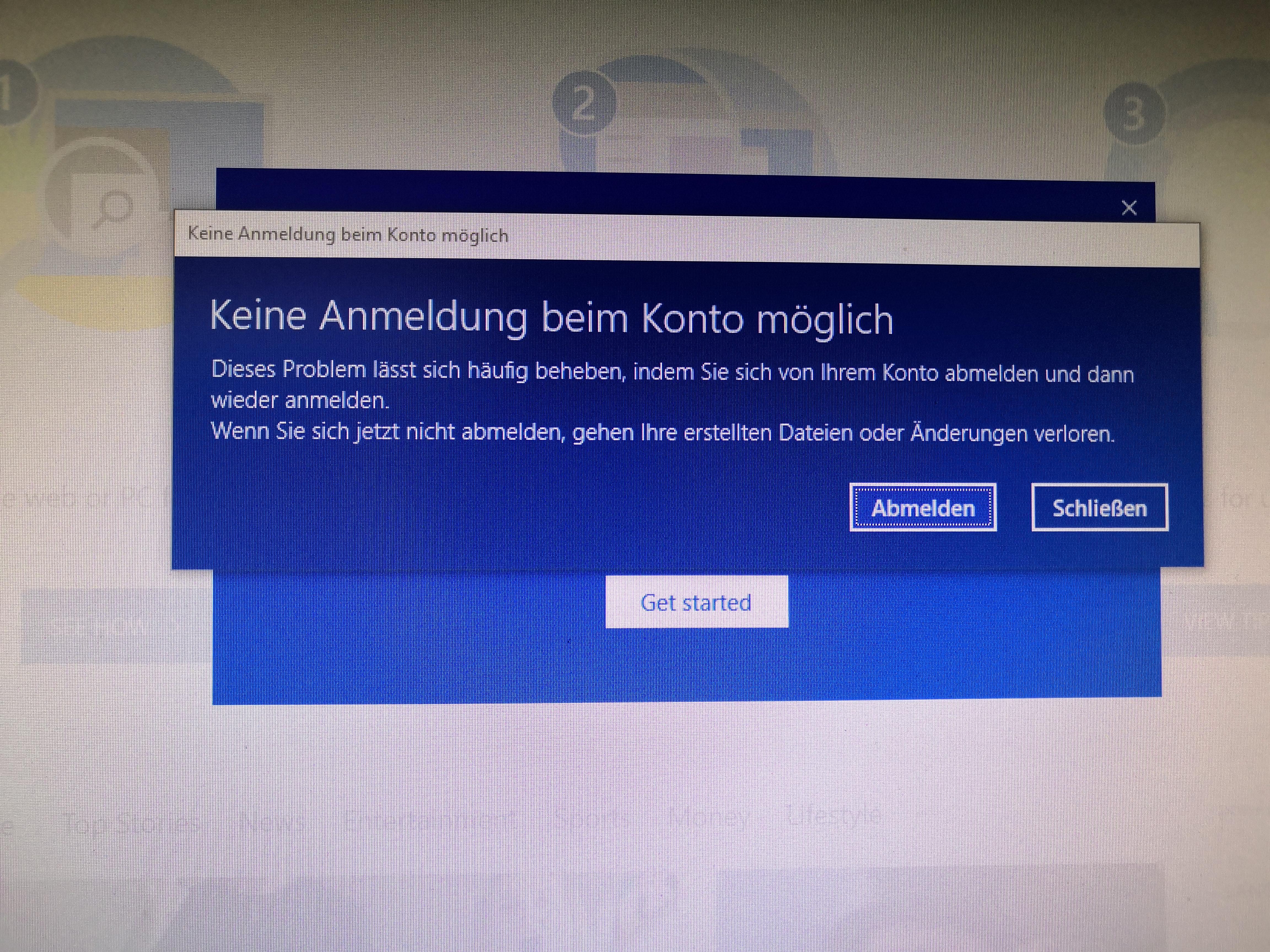Anmeldung beim Microsoft Konto nach Windows Updates nicht möglich