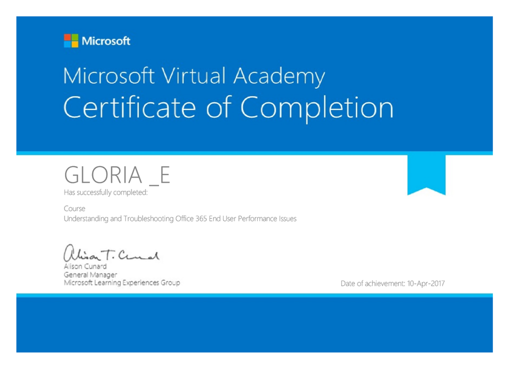 microsoft office 365 certification