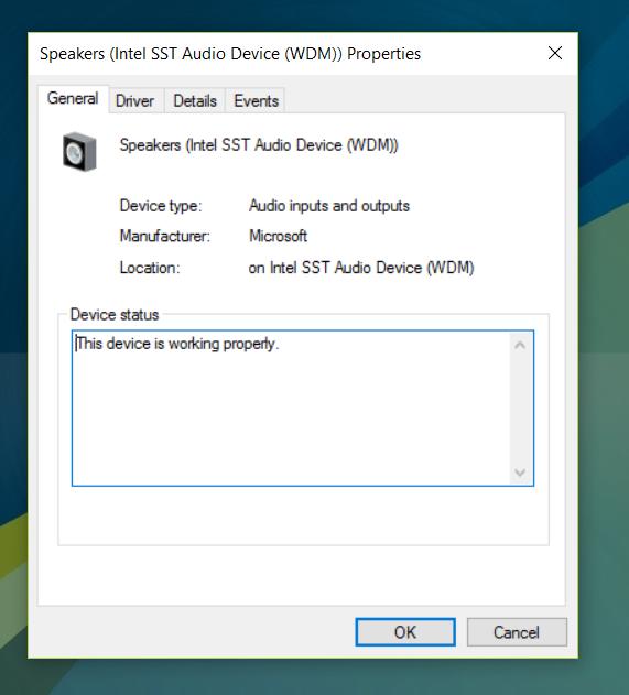 Winbook Windows 10 Speakers will not play audio - Microsoft