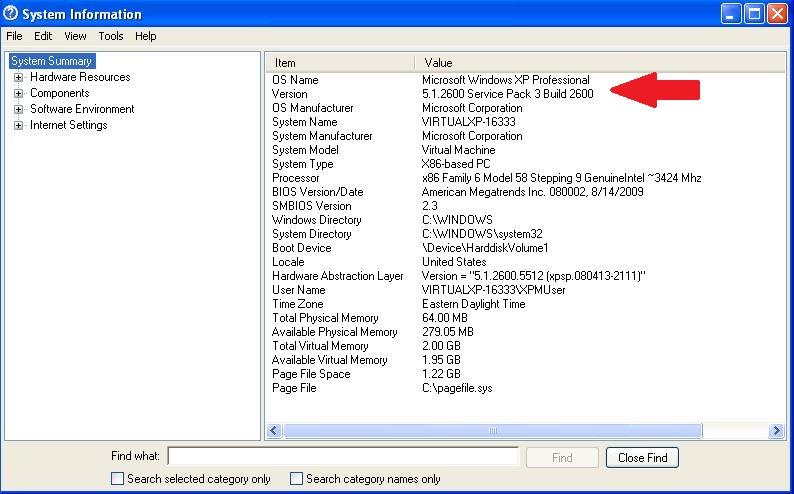 microsoft msinfo32.exe