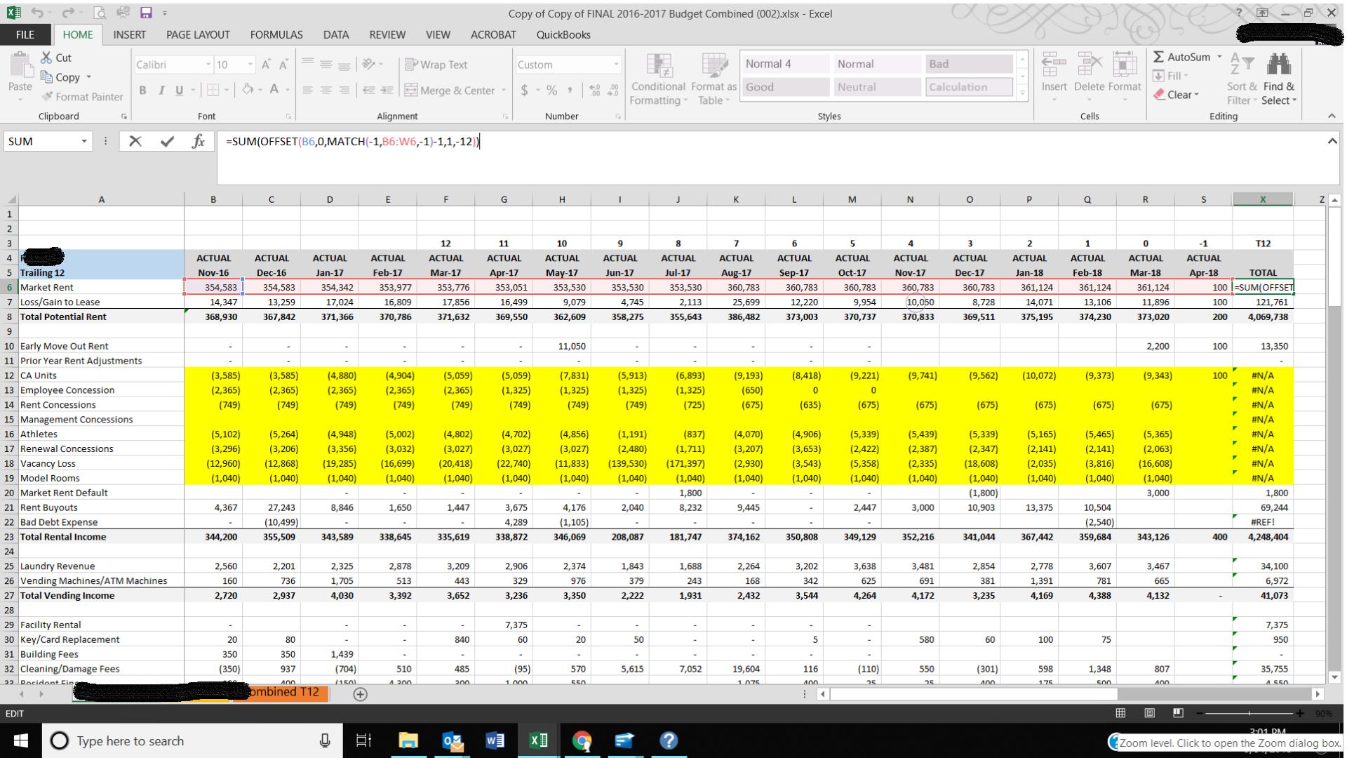 Rolling 12 Month Formula - Microsoft Community
