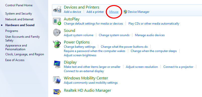 synaptics pointing device driver what is it