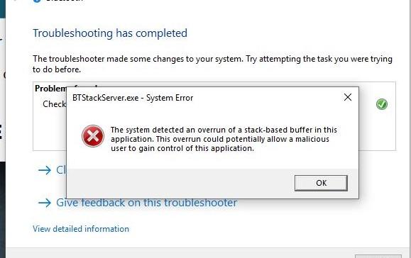 bluetooth audio device driver has a problem
