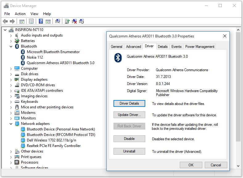 How to manually update Bluetooth Drivers using Device Manager