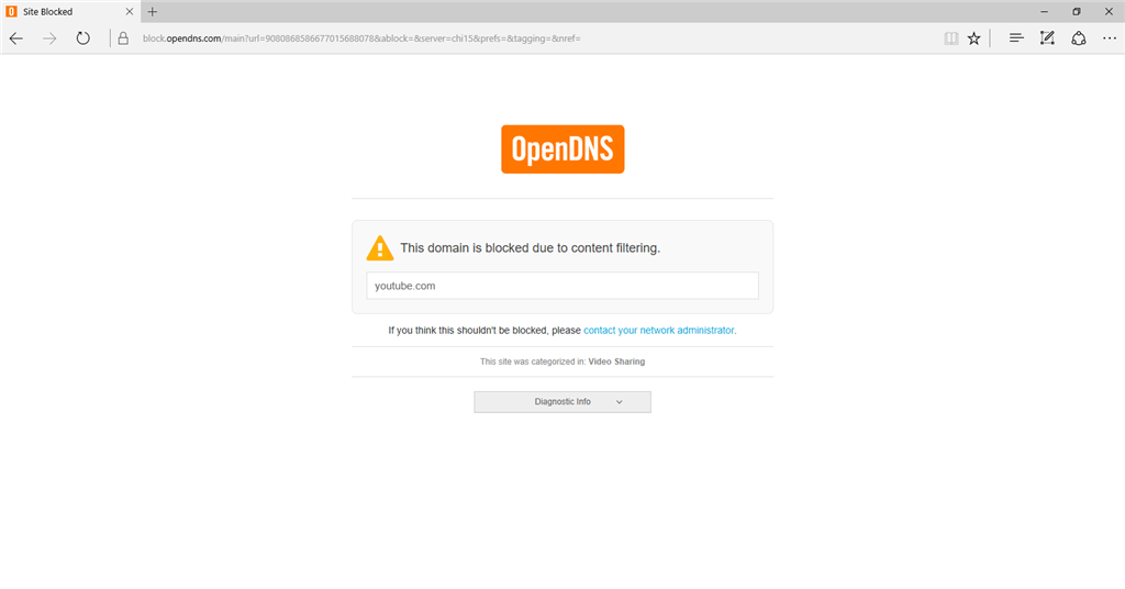 OpenDNS has blocked my main sites on my main computer, but