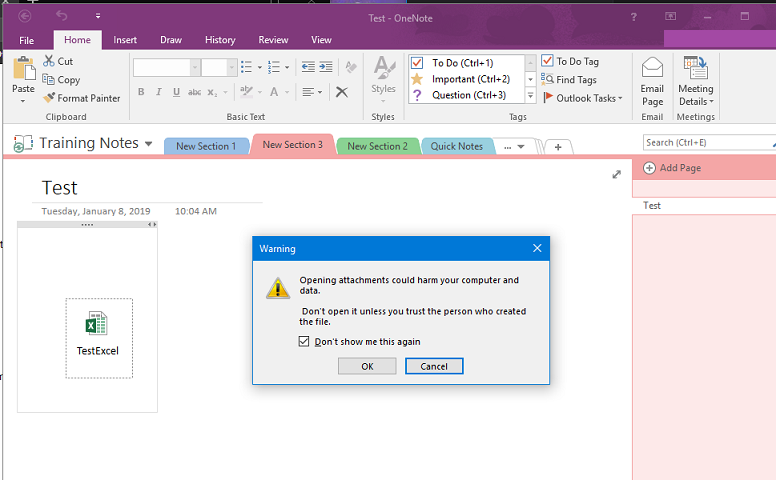 One Note will not open attachments with double click - Microsoft