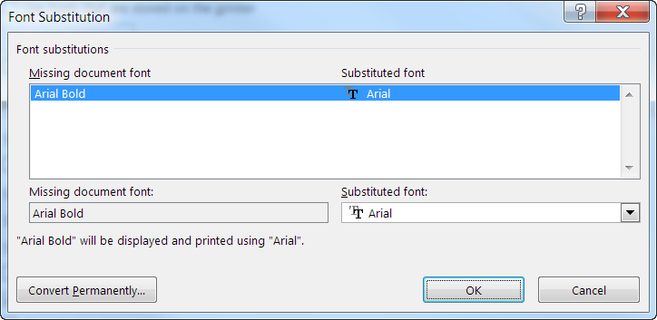 Office 365/Word 2016 Font Substitution Mystery - Part 2