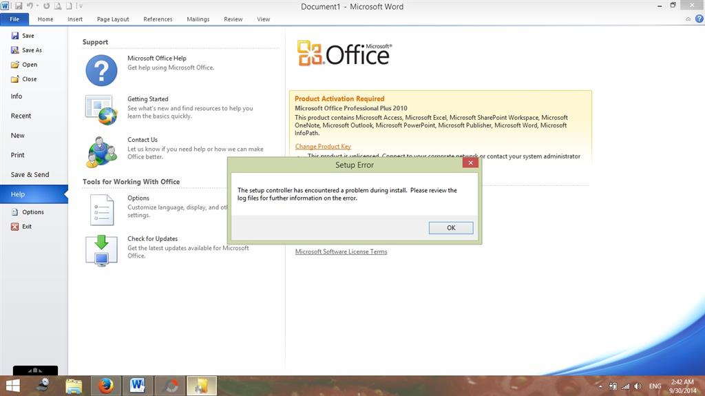 Office 2010 Professional Plus Activation In Windows 81 With Setup