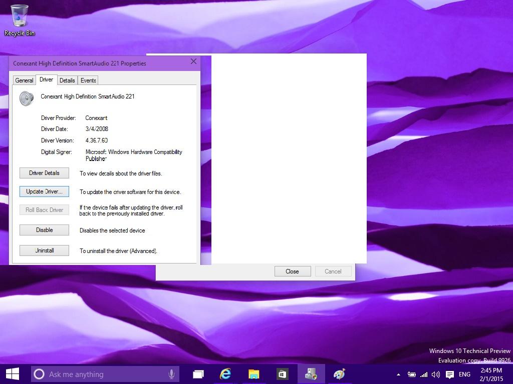 conexant smartaudio hd drivers windows 7