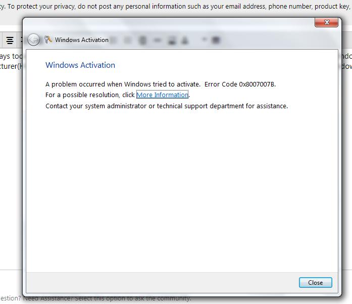 Windows 7 Product Key Activation - Microsoft Community