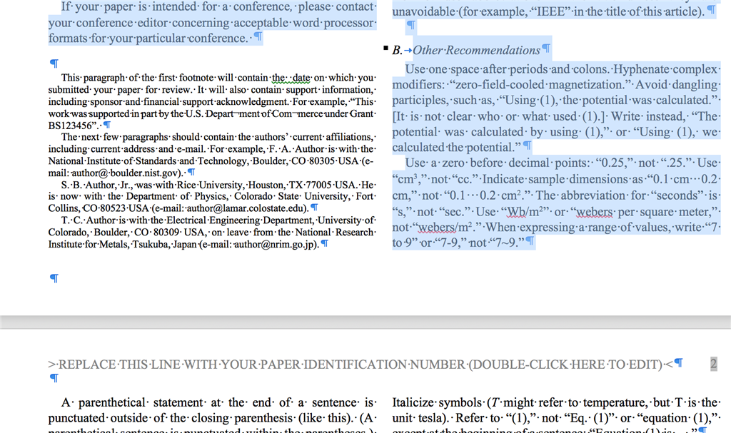 a footnote text is