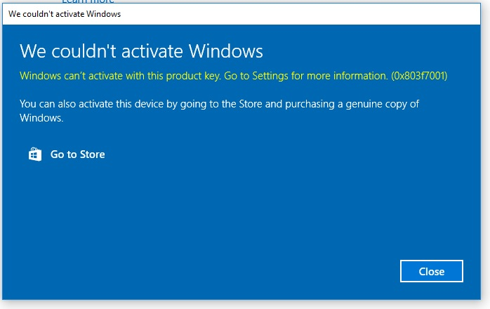bought a used computer and upgraded it and now it says i need the windows activation key