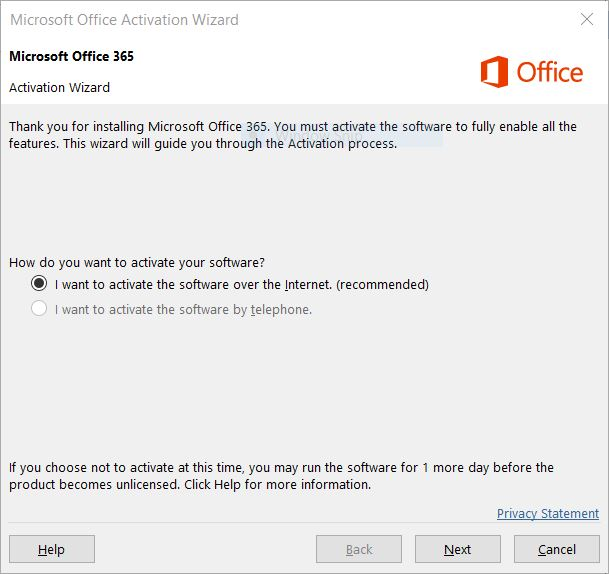 microsoft office phone activation online