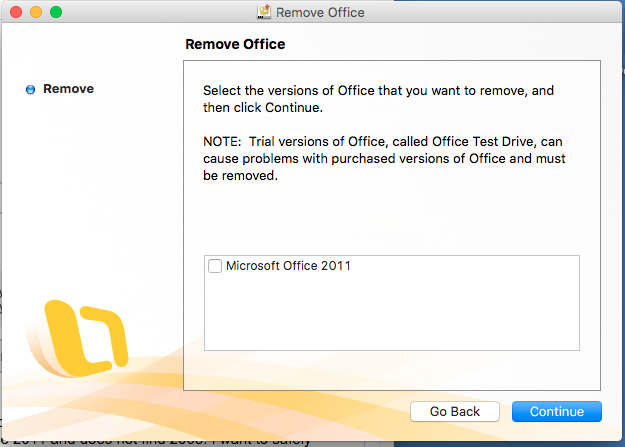 uninstall ms office 2020 trial mac