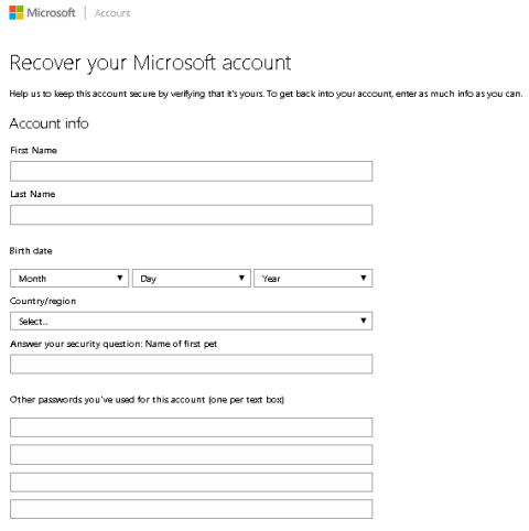 how to search for a microsoft account