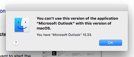 microsoft outlook 2016 for mac os high sierra